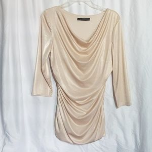 Women's Coco Bianca Shimmery Cow Neck Top